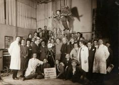 Cast and crew of Metropolis in a group shot.