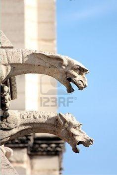 Les gargouilles de Notre-Dame, Paris Banque d'images