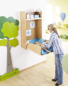 Wooden changing table / commercial / nursery TABLE A LANGER MURAL HABA France