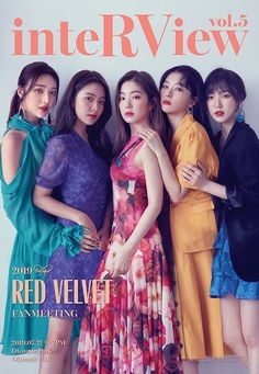 Red Velvet is showing off some gorgeous looks for their upcoming fan meeting 'inteRView' at Olympic Hall on July girls are wearing … Kpop Girl Groups, Korean Girl Groups, Kpop Girls, Red Velvet Seulgi, Red Velvet Irene, Black Velvet, K Pop, Red Velvet Photoshoot, Red Velet
