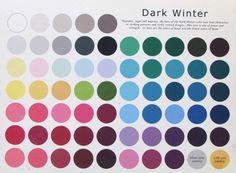 Сегодня разбираем палитру Темная Зима Темная зима - глубокий, нейтрально - холодный колорит. Ее краски темнее красок холодной зимы (затенены черным) и теплее,…
