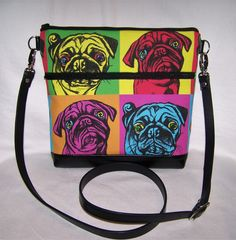 A personal favorite from my Etsy shop https://www.etsy.com/listing/511370925/pop-art-pug-cross-body-bag-purse