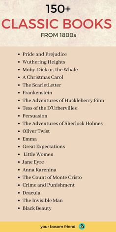 These are 150 must-read classic books for all book lovers. All of these are definitely worth reading in your teens or or Best Books To Read, I Love Books, Good Books, Books To Read In Your Teens, Top Books To Read, Books Everyone Should Read, Book Challenge, Reading Challenge, Literature Books