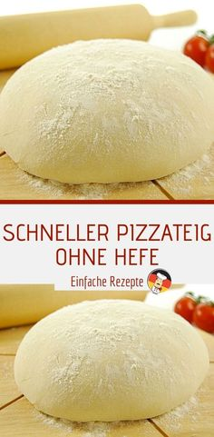 Fast pizza dough without yeast – Rezepte Best Pizza Dough, Good Pizza, Pizza Hut, Best Homemade Pizza, My Best Recipe, Dough Recipe, Pizza Recipes, Food Design, Recipe Using