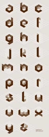 of the World's Most Creative Alphabets CW took me a long time to get the concept of creating these by hand~Cubic alphabet by Svetoslav Simov.CW took me a long time to get the concept of creating these by hand~Cubic alphabet by Svetoslav Simov. Alphabet Design, Typography Letters, Graphic Design Typography, Japanese Typography, Typography Poster, Graphisches Design, Logo Design, Nail Design, Cube Design