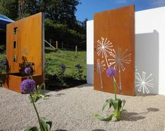 Like! Garden sculptures  Sichtschutz, Cortenstahl, Metall, Garten, Zierkies, Stahl im Garten