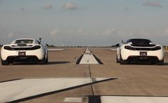 It's the factory made Mclaren MP4-12C Stock 'VS' Mclaren MP4-12C with the HPE700 Upgrade. Who you got? Watch it here http://www.carhoots.com/blog/supercars/707-hp-hennessey-mclaren-vs-stock-616-hp-mclaren--drag-race-video