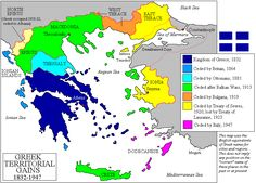 Territorial expansion of Greece 1852-1947
