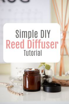 How to make a DIY reed diffuser - a simplle tutorial for a sweet smelling home air freshener Home Hacks, Diy Hacks, Home Air Fresheners, Amazing Transformations, Simple House, Beautiful Space, Easy Projects, Home Renovation, Diffuser