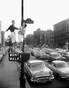 Models: Carmen Dell'Orefice and Betsy Pickering | Photographer: William Helburn - for Harper's Bazaar, 1958