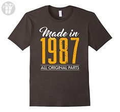 Men's 30th Birthday gifts shirt Made in 1987 30 years old tshirt  Medium Asphalt - Birthday shirts (*Amazon Partner-Link)