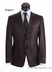 Costume à deux boutons Hommes Armani Brun Bollywood Fashion, Bollywood Style, Western Parties, Casual Blazer, Tuxedo, Party Wear, Suit Jacket, Costumes, Suits