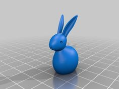 Update 14.10.2015: Modification for Customizer.  Small Bunny with many customizable parameters. Smooth shaped body, head and ears.   Head orientation can be modified as well as size of ears, eyes and tail. 2 different ear types can be selected.   Body and head are hollow to reduce material.   Print a complete bunny family with different characters, different sizes and body styles!