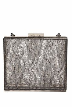 Lacey Hardcase Perspex Clutch in Silver from Witchery