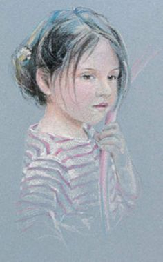 Pastel Portrait of a Young Girl #drawing
