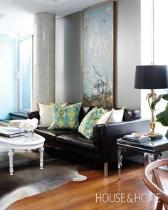Sleek Condo Living Room | House & Home