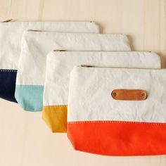 Canvas Summer mini | Beauty bag | Cosmetic bag | Leather | june-shop
