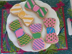 Bow tie cookies! maybe for Prom Or rehearsal dinner