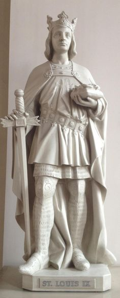 Saint Louis IX, King of France - Feast Day: August He is one of the Patron Saints of Franciscans of the Third Order (Tertiaries) along with Saint Elizabeth of Hungary. He is also one of the Patron Saints of France. Statues, Carthage, Luis Ix, Fall Of Constantinople, French Royalty, Medieval World, Saint Louis, My Ancestors, Daughters Of The King
