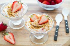 Super easy Strawberry Fool Dessert Recipe - No Bake