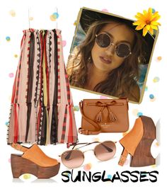 """""""Vintage Love: Retro Sunglasses"""" by laurabosch on Polyvore featuring Apiece Apart, Simon Miller, Kate Spade, Ray-Ban, vintage and RetroSunglasses"""