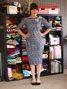 Laken's Gridlock Dress Entry (pattern –Gertie wiggle dress)
