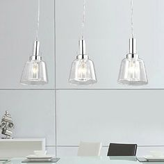 pendant, 3 light,creative minimalist stainless steel glass electroplating – USD $ 99.99
