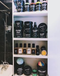 """of our best Lush skincare items from Kayla's shelf: """"My name is Kayla! My favorite product in the photo is herbalism because it's saved my skin & changed my skin care game forever :)"""" Beauty Care, Beauty Skin, Lush Aesthetic, Combination Skin Care, Lush Fresh, Skin Care Routine 30s, Lush Bath Bombs, Acne Scar Removal, Lipgloss"""