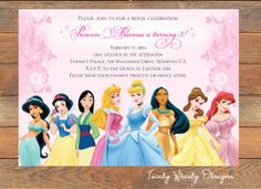 Disney Princess Invitation Printable