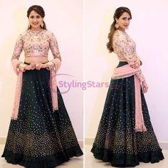 Fabulous Partywear Black And Pink Colour Designer lehenga Choli Lehenga Suit, Lehnga Dress, Lehenga Choli, Cape Lehenga, Silk Dupatta, Green Lehenga, Anarkali Suits, Gown Dress, Punjabi Suits