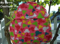 Minnie Mouse Toddler Backpack | Toddler Backpack made from Minnie Mouse Fabric