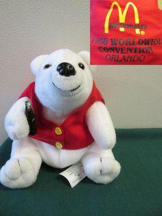 Coca Cola Polar Bear 1998 McDonald's Worldwide Convention Orlando Fl Beanie