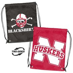 University of Nebraska Laundry Bags 2PC SET Nebraska Huskers Clothes Bags