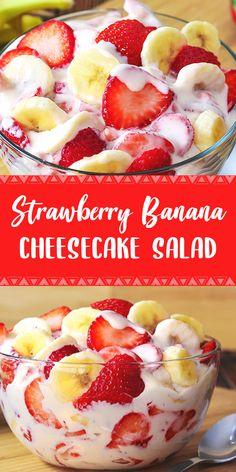 Jello Recipes, Banana Recipes, Best Dessert Recipes, Delicious Desserts, Snack Recipes, Cooking Recipes, Yummy Food, Snacks, Summer Salad Recipes