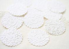Wedding Stickers Seals   24 Embossed White por BlossomandTwig, $8.95