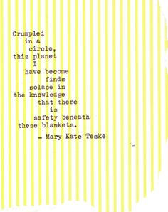 Typewriter poem #64 | Mary Kate Teske