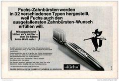 Original-Werbung/Inserat/ Anzeige 1967   1/1-SEITE - FUCHS ZAHNBÜRSTEN - ca. 250 X 160 mm