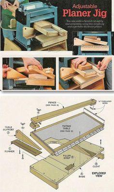 Bevel Adjustable Planer Jig - Planer Tips, Jigs and Fixtures | WoodArchivist.com