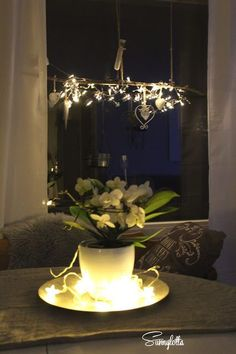 ★ Sunnylotta: Winterlicht Chandelier, Ceiling Lights, Table Decorations, Lighting, Furniture, Home Decor, Candles, Christmas, Homes