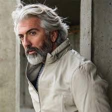 42 Hairstyles for Men with Silver and Grey Hair – Men Hairstyles World, – Men's Hairstyles and Beard Models Easy Hairstyles For School, Easy Hairstyles For Medium Hair, Easy Hairstyles For Long Hair, Crown Hairstyles, Hairstyles Men, Short Hair Styles Easy, Medium Hair Styles, Grey Hair Men, Gray Hair