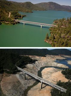 Aerial photos captured by Getty Images photographer Justin Sullivan highlight California's severe drought.