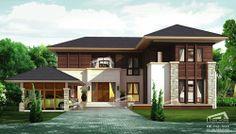 Tropical Resort Style แบบบ้านสองชั้น แบบบ้านชั้นเดียว ไสตล์ทรอปิคอล ทรอปิคอลรีสอร์ท : แบบบ้าน Tropical Style แบบบ้านสองชั้น 4 ห้องนอน 4 ...