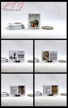 EDGAR ALLAN POE MINIATURE BOOKENDS Set of 2 Dollhouse Miniature Scale Bookends