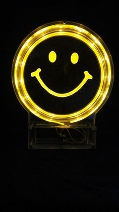 91ae853e9048 LED Novelty Smiley Face Light Sign by PamsRepurposed on Etsy