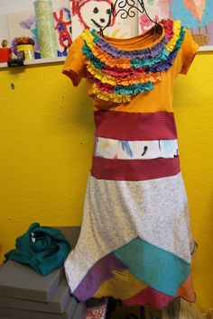 Upcycled t-shirt dress for the summer!