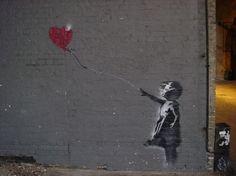 Banksy, Girl With Balloon, London - unurth | street art