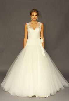 Tulle Ball Gown Wedding Dress   Alyne by Rita Vinieris   Kurt Wilberding   The Knot Blog