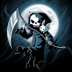 He's stepping out of the shadows. Get the Reaper t-shirt only at TeeTurtle!
