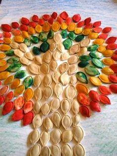 Pumpkin Seed Mosaic, other fall crafts