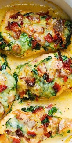 Sun-Dried Tomato, Spinach, and Bacon Chicken – if you want to know how to cook the best chicken breasts, this is the recipe for you! The chicken breasts ar